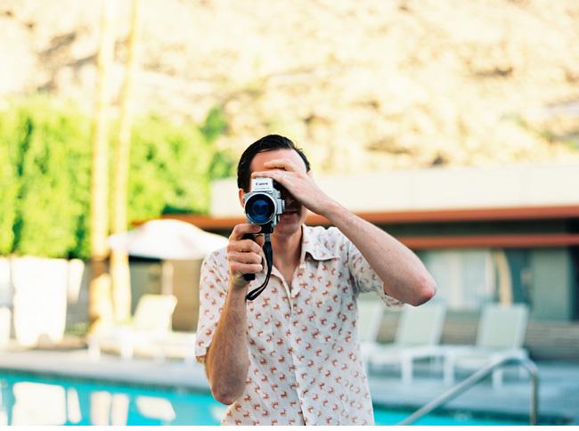 orbit in the hideaway palm springs california on film photographer photography kodak portra 400 contaxt 645 medium format wedding editorial mid century modern house motel