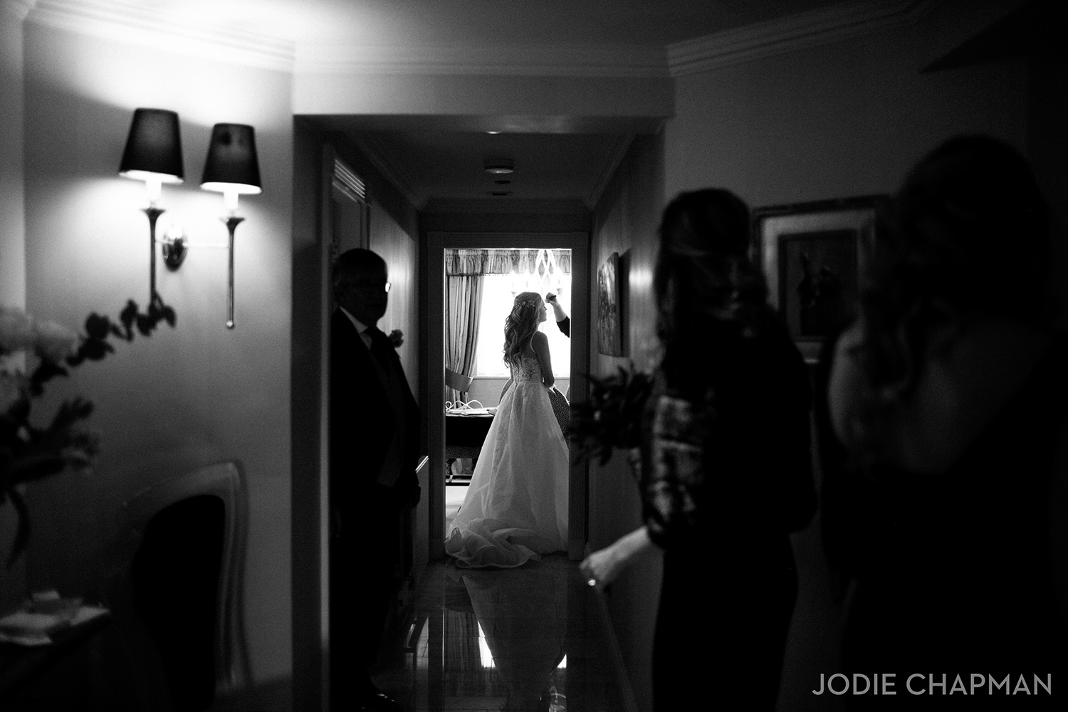 image of a bride getting ready for a london wedding