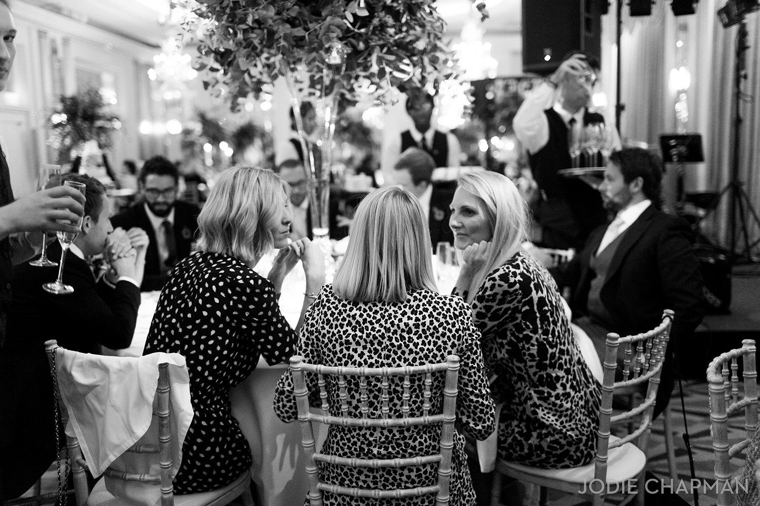 wedding guests at claridge's