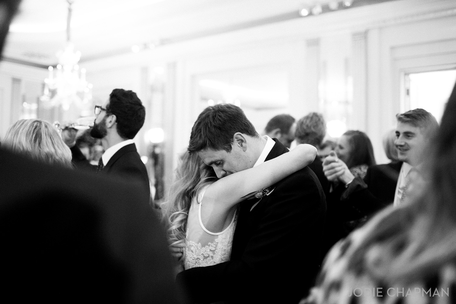 bride and groom first dance at claridge's wedding