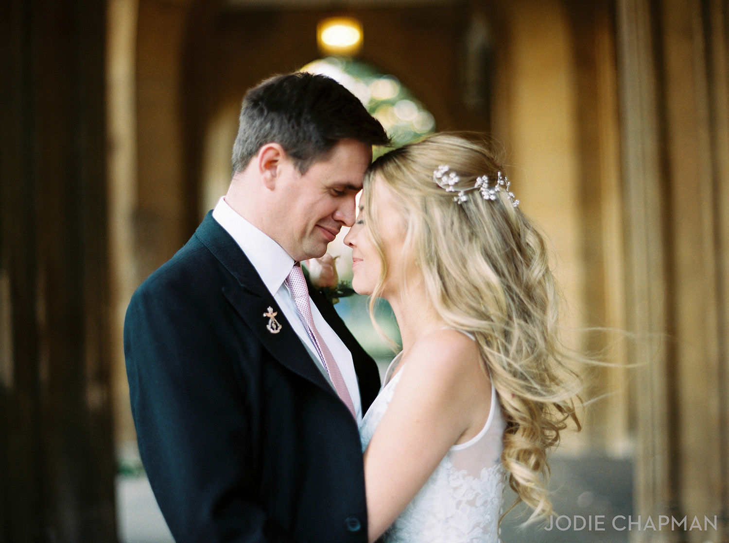 image of a bride and groom at a wedding at st lukes church chelsea